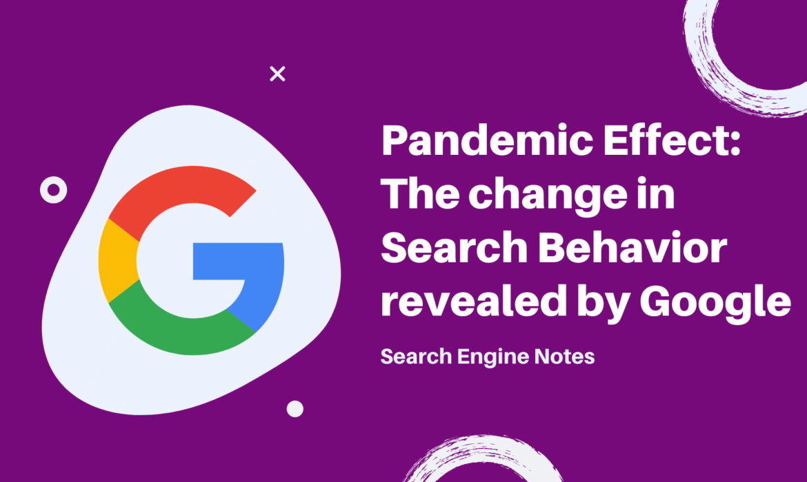 Search engine notes banner - Pandemic Effect