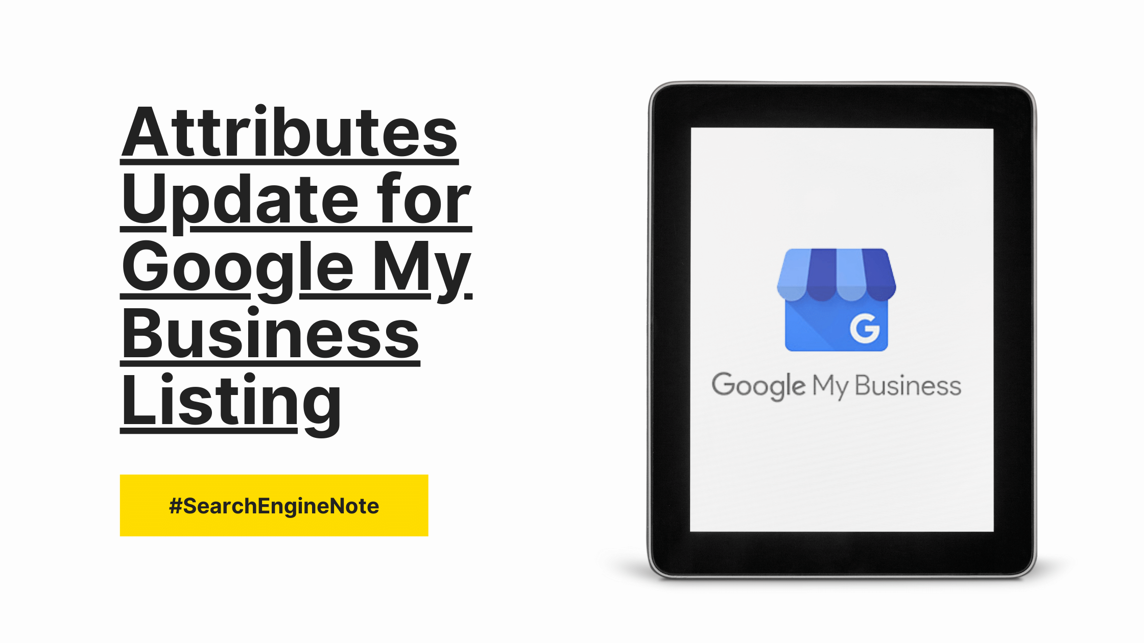New Set of Attributes for Google My Business Listing